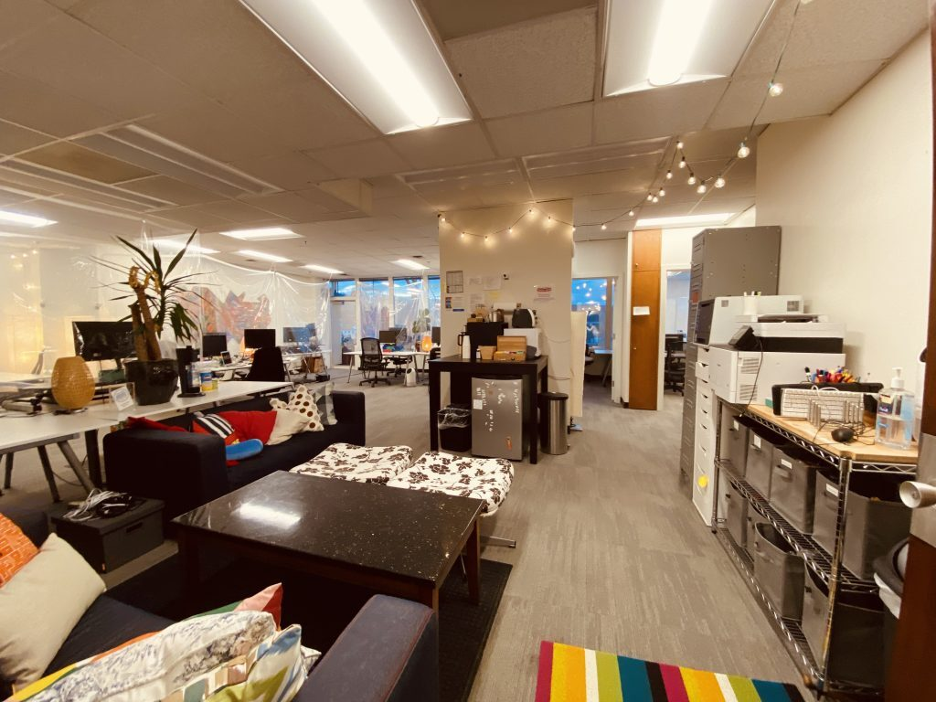 The main coworking room at Collective Agency Downtown